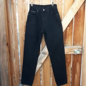 Vintage black high rise mom jeans sz 25